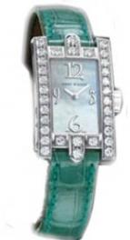 Avenue Lady Mechanical (WG_Diamonds / MOP / Green Strap)