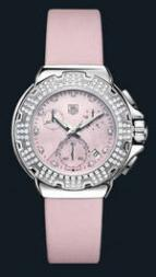 Formula 1 Diamond Chronograph (SS-Diamonds / Pink / Strap)