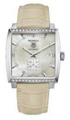 Monaco Automatic (SS-Diamonds / MOP / Leather)