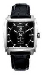 Monaco Automatic (SS / Black / Leather)