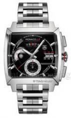 MONACO LS Chronograph Calibre 12 Steel Bracelet