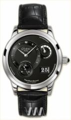 Glashutte Original Panomaticreserve (Pt / Black / Leather)