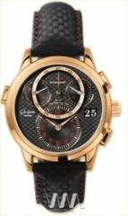 Glashutte Original Panomaticchrono (RG / Black / Leather)