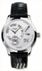 Glashutte Original Panoreserve (SS / Silver / Leather)