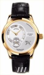 Glashutte Original Panomaticdate (RG / Silver / Leather)