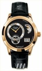 Glashutte Original Panomaticlunar (RG / Black / Leather)