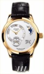 Glashutte Original Panomaticlunar (RG / Silver / Leather)