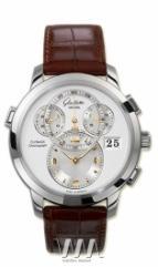 Glashutte Original Panomaticchrono XL (WG / Silver / Leather)