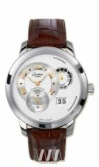 Glashutte Original Panomatycreserve XL (WG / Silver / Leather)