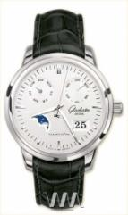 Glashutte Original Senator Calendar (SS / Silver / Leather)
