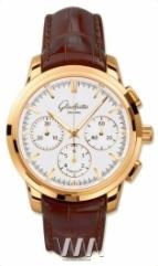 Glashutte Original Senator Chronograph (RG / White / Leather)