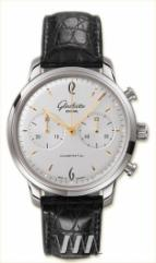 Glashutte Original Senator Sixties Chronograph (SS / White / Leather)