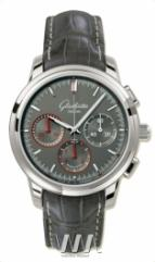 Glashutte Original Senator Chronograph (SS / Grey / Leather)