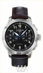Glashutte Original Senator Navigator Chronograph (SS / Black / Leather)