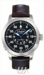 Glashutte Original Senator Navigator Automatic (SS / Black / Leather)