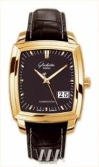 Glashutte Original Senator Karree Panorama Date (RG / Black / Leather)