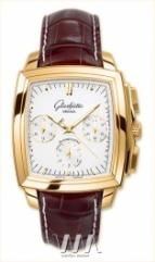 Glashutte Original Senator Karree Chronograph (RG / Silver / Leather)