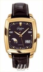 Glashutte Original Senator Karree Perpetual Calendar (RG / Black / Leather)