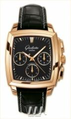 Glashutte Original Senator Karree Chronograph (RG / Black / Leather)