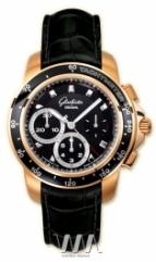 Glashutte Original Sport Evolution Chronograph (RG / Black / Leather)
