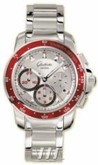 Glashutte Original Sport Evolution Chronograph (SS / Silver_Red / SS)