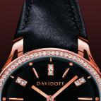 часы Davidoff Lady quartz red gold diamonds black dial
