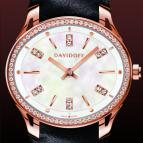 часы Davidoff Lady quartz red gold diamonds white mother of pearl