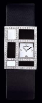 часы Chanel Or blanc 18 carats / Cadran nacre, 4 diamants
