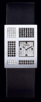 часы Chanel Or blanc 18 carats / Cadran pavé diam 4 diam. noirs