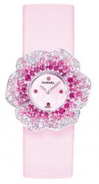 часы Chanel Or blanc 18 carats / Pétales pavés diam & saphirs roses