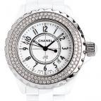 J12 Céramique blanche sertie diamants