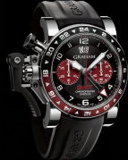 CHRONOFIGHTER OVERSIZE GMT BORDEAUX STEEL