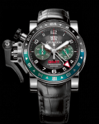 CHRONOFIGHTER OVERSIZE GMT BLACK BRG STEEL
