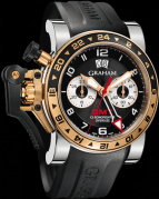 CHRONOFIGHTER OVERSIZE GMT BLACK STEEL & GOLD