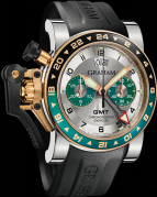 CHRONOFIGHTER OVERSIZE GMT SILVER BRG STEEL & GOLD