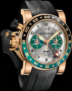 CHRONOFIGHTER OVERSIZE GMT SILVER BRG GOLD