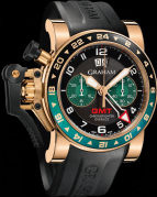 CHRONOFIGHTER OVERSIZE GMT BLACK BRG GOLD